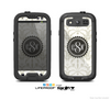 The Vintage Tan and Black Middle Piece Monogram Skin For The Samsung Galaxy S3 LifeProof Case