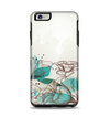 The Vintage Teal and Tan Abstract Floral Design Apple iPhone 6 Plus Otterbox Symmetry Case Skin Set