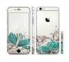 The Vintage Teal and Tan Abstract Floral Design Sectioned Skin Series for the Apple iPhone 6