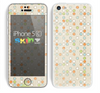 The Vintage Tiny Polka Dot Pattern Skin for the Apple iPhone 5c