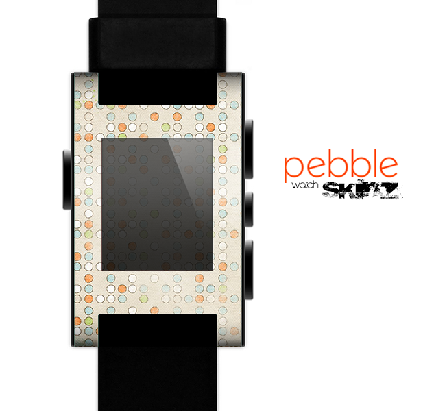 The Vintage Tiny Polka Dot Pattern Skin for the Pebble SmartWatch