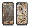 The Vintage Torn Newspaper Collage Apple iPhone 6 LifeProof Fre Case Skin Set