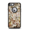 The Vintage Torn Newspaper Collage Apple iPhone 6 Otterbox Defender Case Skin Set