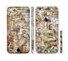 The Vintage Torn Newspaper Collage Sectioned Skin Series for the Apple iPhone 6 Plus