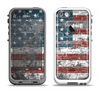 The Vintage USA Flag Apple iPhone 5-5s LifeProof Fre Case Skin Set