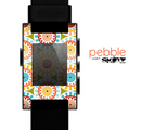 The Vintage Vector Color Circle Pattern Skin for the Pebble SmartWatch
