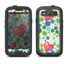 The Vintage Vector Heart Buttons Samsung Galaxy S3 LifeProof Fre Case Skin Set