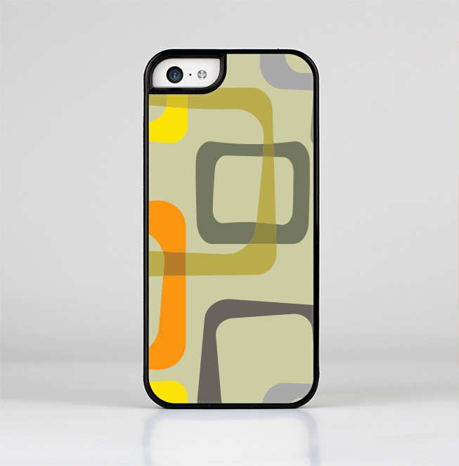 The Vintage Vector Square Pattern Skin-Sert for the Apple iPhone 5c Skin-Sert Case