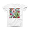The Vintage Watercolor Cactus Bloom ink-Fuzed Front Spot Graphic Unisex Soft-Fitted Tee Shirt