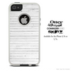 The Vintage White Wood Skin For The iPhone 4-4s or 5-5s Otterbox Commuter Case