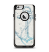 The Vintage White and Blue Anchor Illustration Apple iPhone 6 Otterbox Commuter Case Skin Set