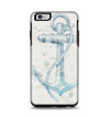 The Vintage White and Blue Anchor Illustration Apple iPhone 6 Plus Otterbox Symmetry Case Skin Set