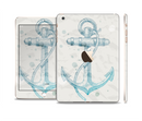 The Vintage White and Blue Anchor Illustration Full Body Skin Set for the Apple iPad Mini 3