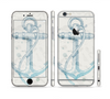 The Vintage White and Blue Anchor Illustration Sectioned Skin Series for the Apple iPhone 6 Plus