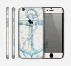 The Vintage White and Blue Anchor Illustration Skin for the Apple iPhone 6