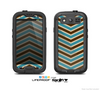 The Vintage Wide Chevron Pattern Brown & Blue Skin For The Samsung Galaxy S3 LifeProof Case