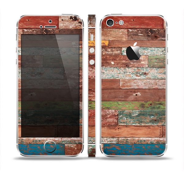 The Vintage Wood Planks Skin Set for the Apple iPhone 5
