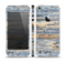 The Vintage Wooden Planks with Yellow Paint Skin Set for the Apple iPhone 5