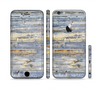 The Vintage Wooden Planks with Yellow Paint Sectioned Skin Series for the Apple iPhone 6