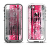 The Vintage Worn Pink Paint Apple iPhone 5-5s LifeProof Fre Case Skin Set