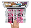 "The Vintage Worn Pink Paint Skin Set for the Apple MacBook Pro 15"" with Retina Display"