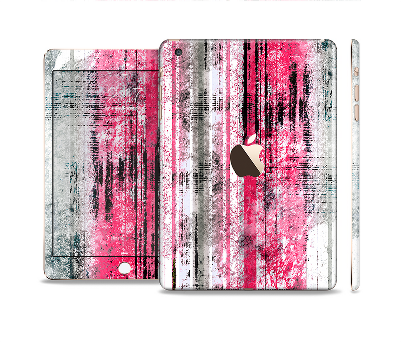 The Vintage Worn Pink Paint Full Body Skin Set for the Apple iPad Mini 3