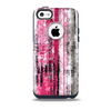 The Vintage Worn Pink Paint Skin for the iPhone 5c OtterBox Commuter Case