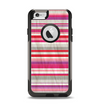 The Vintage Wrinkled Color Tall Stripes Apple iPhone 6 Otterbox Commuter Case Skin Set