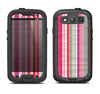 The Vintage Wrinkled Color Tall Stripes Samsung Galaxy S3 LifeProof Fre Case Skin Set