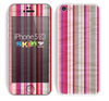 The Vintage Wrinkled Color Tall Stripes Skin for the Apple iPhone 5c