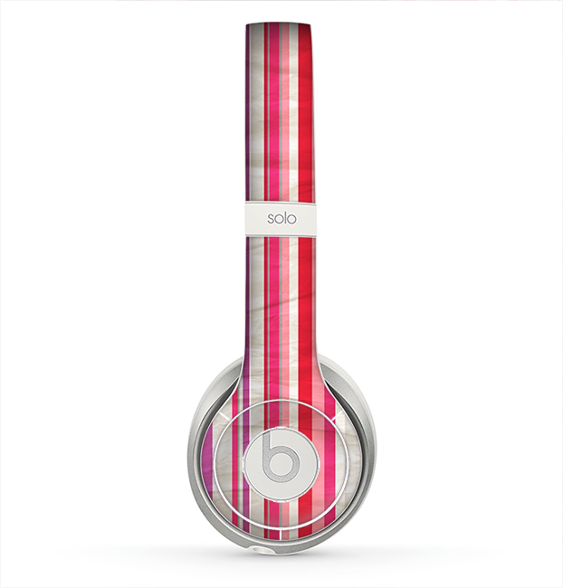 The Vintage Wrinkled Color Tall Stripes Skin for the Beats by Dre Solo 2 Headphones