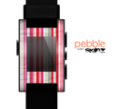 The Vintage Wrinkled Color Tall Stripes Skin for the Pebble SmartWatch