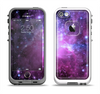 The Violet Glowing Nebula Apple iPhone 5-5s LifeProof Fre Case Skin Set