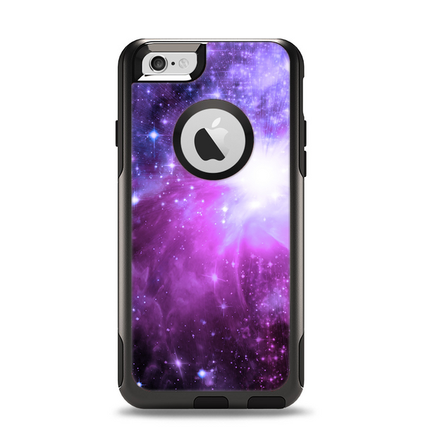The Violet Glowing Nebula Apple iPhone 6 Otterbox Commuter Case Skin Set