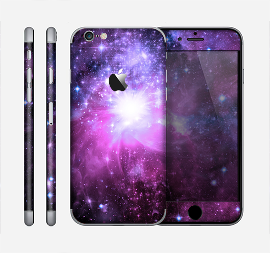 The Violet Glowing Nebula Skin for the Apple iPhone 6