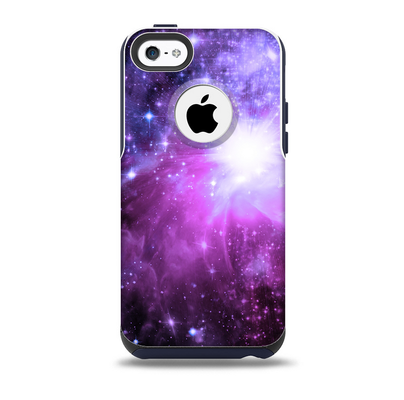 The Violet Glowing Nebula  Skin for the iPhone 5c OtterBox Commuter Case
