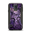 The Violet with Black Highlighted Spirals Samsung Galaxy S5 Otterbox Commuter Case Skin Set