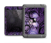 The Violet with Black Highlighted Spirals Apple iPad Air LifeProof Fre Case Skin Set