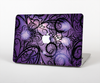 The Violet with Black Highlighted Spirals Skin Set for the Apple MacBook Air 13""