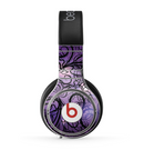 The Violet with Black Highlighted Spirals Skin for the Beats by Dre Pro Headphones