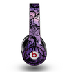 The Violet with Black Highlighted Spirals Skin for the Original Beats by Dre Studio Headphones