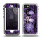 The Violet with Black Highlighted Spirals Skin for the iPhone 5-5s OtterBox Preserver WaterProof Case
