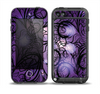 The Violet with Black Highlighted Spirals Skin for the iPod Touch 5th Generation frē LifeProof Case