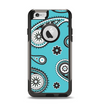 The Vivid Blue & Black Paisley Design Apple iPhone 6 Otterbox Commuter Case Skin Set