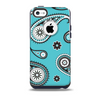 The Vivid Blue & Black Paisley Design Skin for the iPhone 5c OtterBox Commuter Case