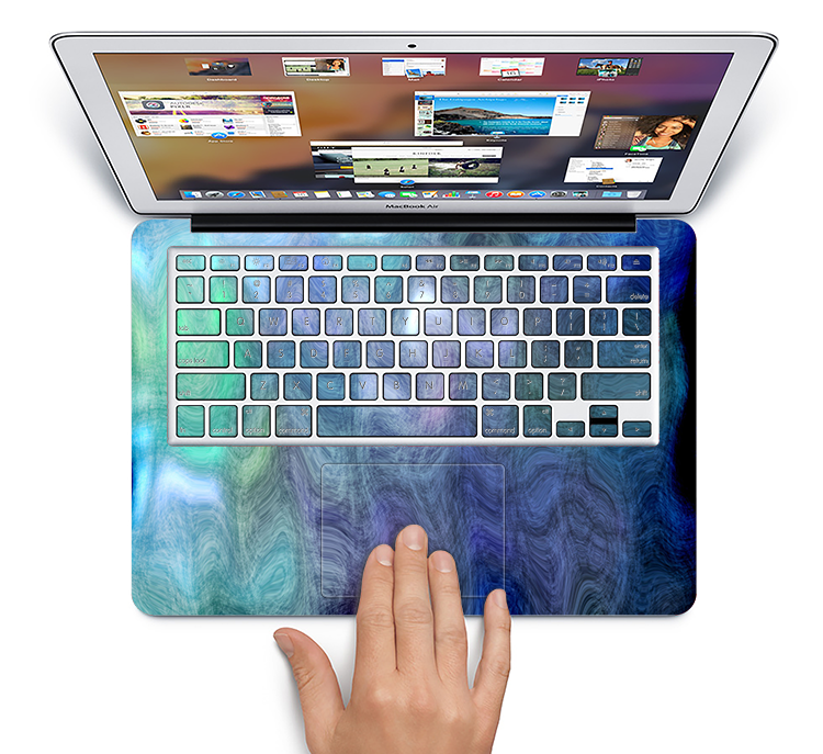 "The Vivid Blue Sagging Painted Surface Skin Set for the Apple MacBook Pro 15"" with Retina Display"
