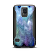The Vivid Blue Sagging Painted Surface Samsung Galaxy S5 Otterbox Commuter Case Skin Set