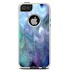 The Vivid Blue Sagging Painted Surface Skin For The iPhone 5-5s Otterbox Commuter Case