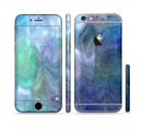 The Vivid Blue Sagging Painted Surface Sectioned Skin Series for the Apple iPhone 6s