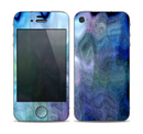 The Vivid Blue Sagging Painted Surface Skin for the Apple iPhone 4-4s